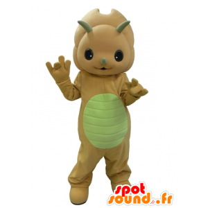 Orange dinosaur maskot og veldig søt gul - MASFR031630 - Dinosaur Mascot