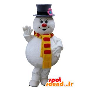 Pupazzo mascotte bianco, paffuto e divertente - MASFR031644 - Umani mascotte