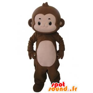 Affe Maskottchen braun und rosa, sehr nett - MASFR031645 - Maskottchen monkey