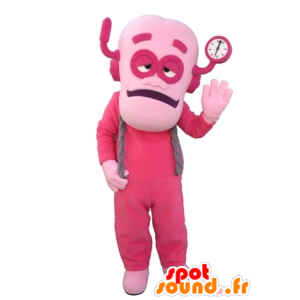 Man Maskottchen, in rosa rosa Roboter gekleidet - MASFR031646 - Menschliche Maskottchen