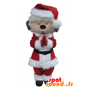 Mascot goat white and gray Santa Claus outfit - MASFR031663 - Goats and goat mascots