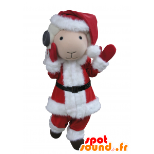 Mascot goat white and gray Santa Claus outfit - MASFR031671 - Goats and goat mascots