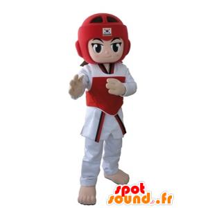 Taekwendoka mascot, girl dressed in taekwondo - MASFR031674 - Mascots boys and girls