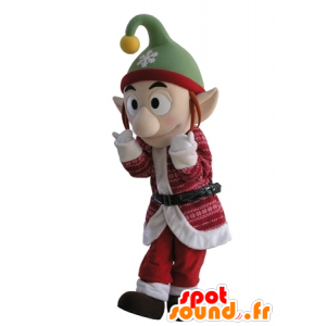 Leprechaun mascot Christmas outfit with pointy ears - MASFR031679 - Christmas mascots