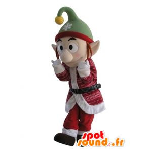 Kobold Maskottchen Weihnachtsausstattung mit spitzen Ohren - MASFR031679 - Weihnachten-Maskottchen