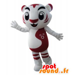 Mascot roten und weißen Tiger, sehr erfolgreich - MASFR031682 - Tiger Maskottchen