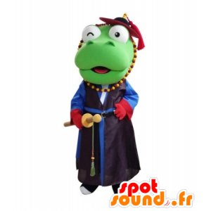 Dinozaur maskotka ubrana w samuraja - MASFR031686 - dinozaur Mascot