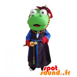 Dinosaur mascot dressed in samurai - MASFR031686 - Mascots dinosaur