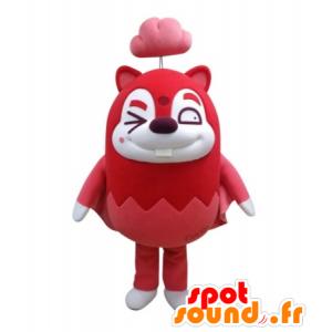 Mascot roten Biber, der fliegende Eichhörnchen - MASFR031690 - Maskottchen Eichhörnchen