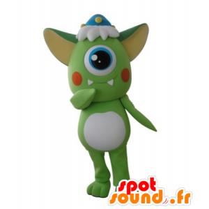 Mascotte d'extra-terrestre vert, cyclope - MASFR031691 - Mascottes animaux disparus