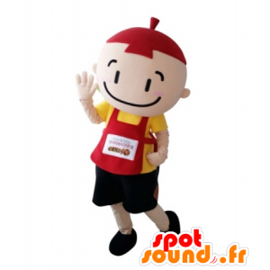Mascot colorful little boy with a bib - MASFR031699 - Mascots boys and girls