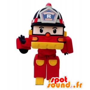 Firefighter manier Transformers Truck Mascot - MASFR031700 - mascottes objecten