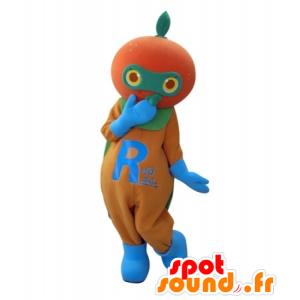 Mascotte de mandarine, d'orange géante - MASFR031705 - Mascotte de fruits