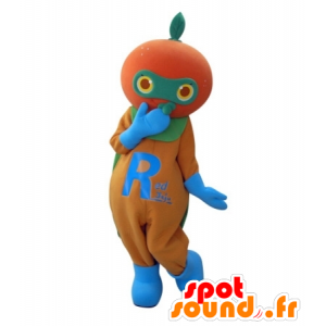 Tangerine mascot, giant orange - MASFR031705 - Fruit mascot