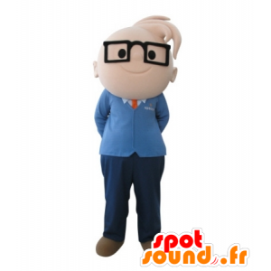 Mascot boy with glasses. engineering mascot - MASFR031713 - Mascots boys and girls