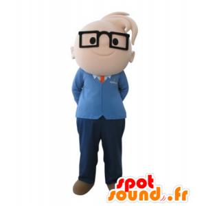 Mascot gutt med briller. ingeniør Mascot - MASFR031713 - Maskoter gutter og jenter