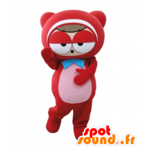 Mascot red man, Teddy, very funny - MASFR031717 - Bear mascot