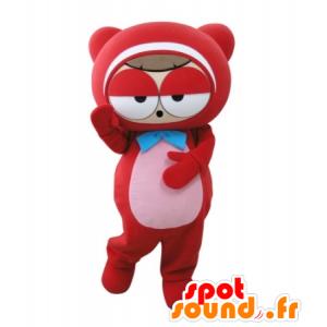 Mascot roten Mann, Teddy, sehr lustig - MASFR031717 - Bär Maskottchen