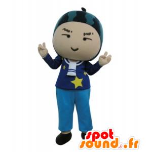 Mascotte de bonhomme avec une pastèque sur la tête - MASFR031718 - Mascottes Homme
