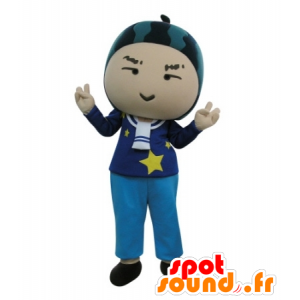 Snowman mascot with a watermelon on his head - MASFR031718 - Human mascots