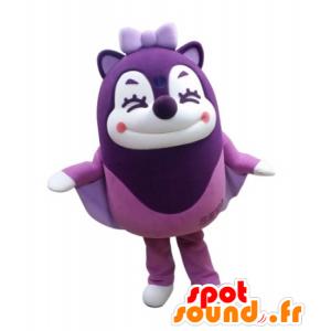Mascot violetti Liito-orava ilmassa nauraen - MASFR031723 - maskotteja orava