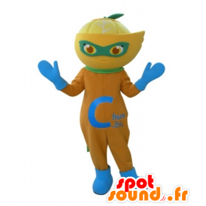 Maskottchen Orange, Zitrone, Clementine - MASFR031724 - Obst-Maskottchen