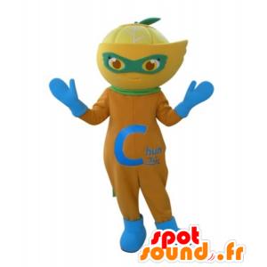 Laranja da mascote, limão, clementina - MASFR031724 - frutas Mascot