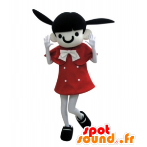 Brunette girl mascot with donkey ears - MASFR031725 - Mascots boys and girls
