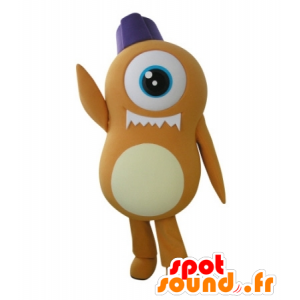 Mascot obcy pomarańczowe cyklop - MASFR031726 - wymarłe zwierzęta Maskotki