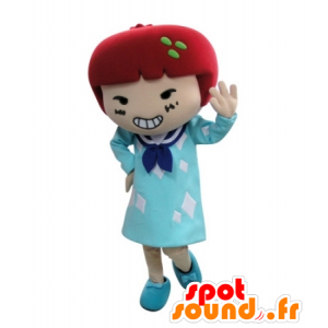 Dress mascot girl with red hair - MASFR031729 - Mascots boys and girls