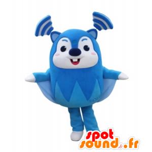 Blau fliegende Eichhörnchen Maskottchen und weiß, sehr lustig - MASFR031734 - Maskottchen Eichhörnchen