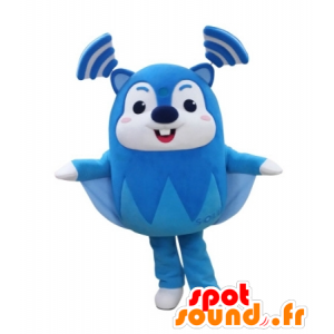 Blue flying squirrel mascot and white, very funny - MASFR031734 - Mascots squirrel