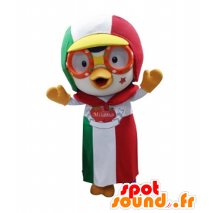 Bird mascot with a cap and apron - MASFR031735 - Mascot of birds