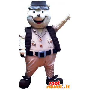 Mole Mascot Explorer held - MASFR031747 - Animals of the forest