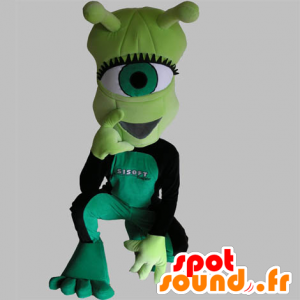 Mascot alien cyclops, green, very funny - MASFR031756 - Missing animal mascots