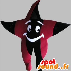 Mascotte d'étoile géante, noire et rouge - MASFR031758 - Mascottes non-classées