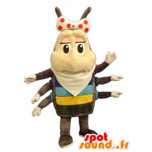 Mascot Chip, Insekten braun und beige bis 6 Meter - MASFR031765 - Maskottchen Insekt