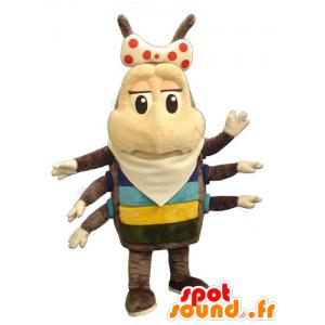Mascot chip, insekt brun og beige 6 bent - MASFR031765 - Maskoter Insect