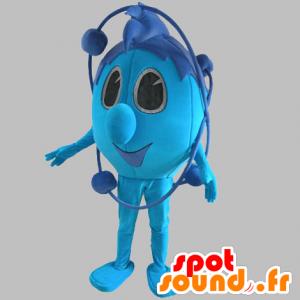 Blau Schneemann Maskottchen Raum. blau Maskottchen - MASFR031769 - Menschliche Maskottchen
