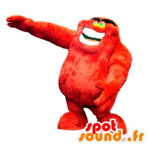 Mascotte de monstre rouge, poilu, doux et drôle - MASFR031774 - Mascottes de monstres
