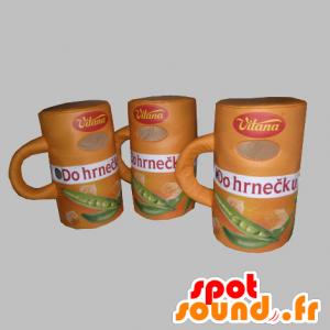 3 mascots Suppe. 3 Teller Suppe - MASFR031775 - Maskottchen von Objekten