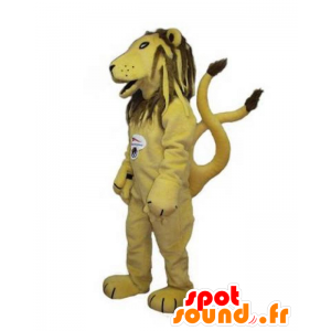 Mascotte leone, giallo e marrone tigre - MASFR031780 - Mascotte tigre