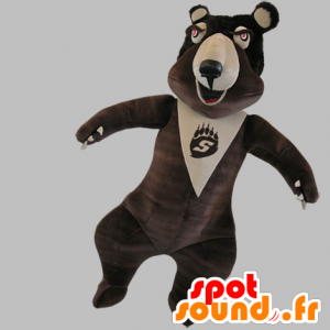 Mascot beige and brown bears, very funny - MASFR031786 - Bear mascot
