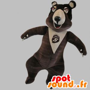 Mascot bruin en beige beer, erg grappig - MASFR031786 - Bear Mascot