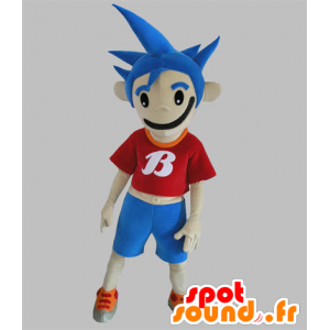Mascot boy with blue hair - MASFR031799 - Mascots boys and girls