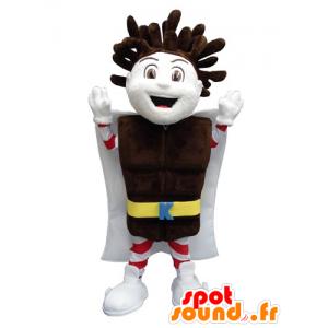 Mascot Kapo Chocolate boy with a chocolate bar - MASFR031800 - Mascots boys and girls