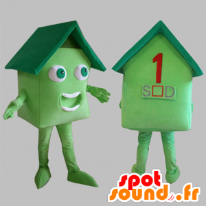 πράσινο μασκότ σπίτι. σπίτι μασκότ - MASFR031815 - μασκότ Σπίτι
