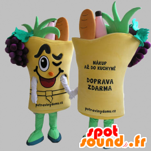 Vegetable basket mascot. vegetable mascot - MASFR031819 - Mascot of vegetables