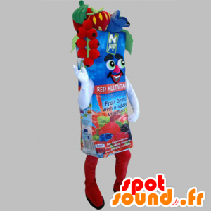 Mascotte de brique de jus de fruit géante - MASFR031820 - Mascotte de fruits