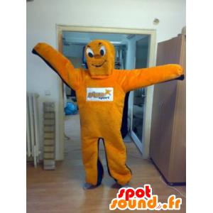 Mascot orange und blau Mann, Riese - MASFR031821 - Menschliche Maskottchen